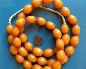 African Copal Amber Resin Beads Faux Amber Necklace Gift Jewelry Supply Trade craft DIY