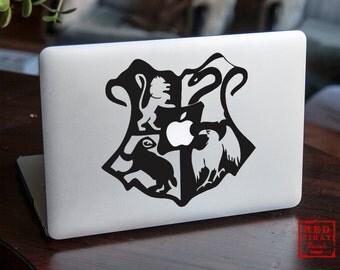 Hogwart Macbook decal | Harry Potter Hogwarts Decal | Macbook sticker