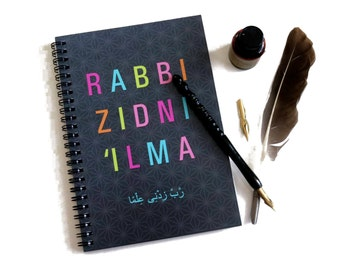 Rabbi Zidni 'Ilma A5 Notebook, Islamic Stationery, Jotter