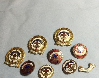 ON SALE Group of assorted Sunday School Religion Pins