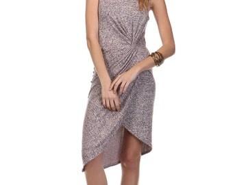 D4517 Sleeveless Twist Knot Front Dress
