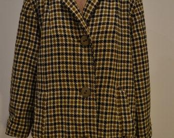 Vintage wool coat homemade c. 1970s