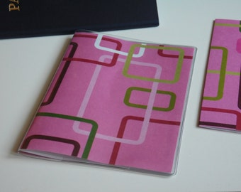 Pink Passport Cover, Pink and Lime Geometry Passport  Sleeve, Case, Holder