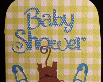 Baby Monkey Baby Shower Invitations set of 10 or more