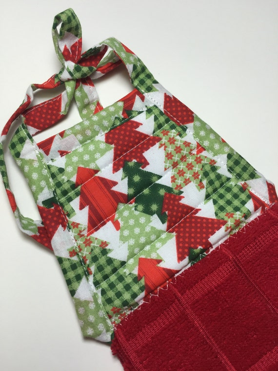 Christmas Tree Hanging Kitchen Towel W/ties,Red Towel,Christmas  Trees,Christmas Decor,Christmas Gift,Kitchen Towel,Hand Towel,womenu0027s Gift  The Design Is A ...