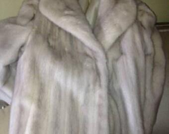 Silver Mink Coat