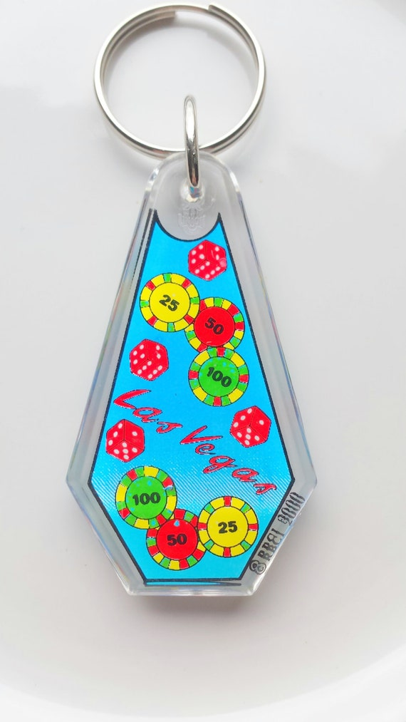 Las vegas coffin key ring nevada key ring blue key ring for Arts and crafts stores in las vegas