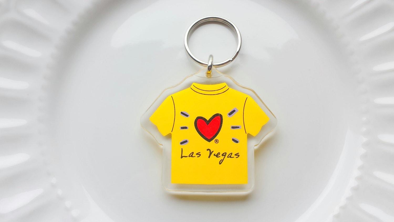 Love las vegas key ring t shirt key ring yellow key ring for Arts and crafts stores in las vegas