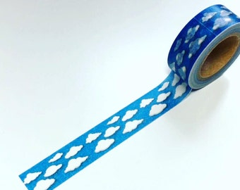 Clouds washi tape, Cloud washi tape, Cloud washi tape, blue sky washi, planner washi, washi tape