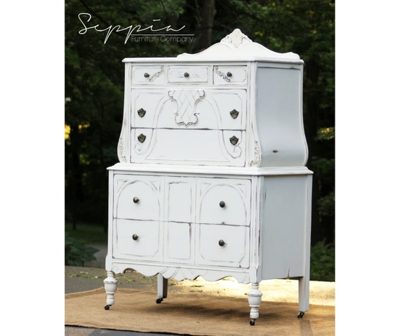 Shabby chic bombay chest of drawers