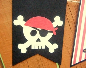 Pirate Birthday Banner Sign