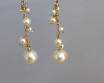 FW Pearl 14k Gold Filled Earrings