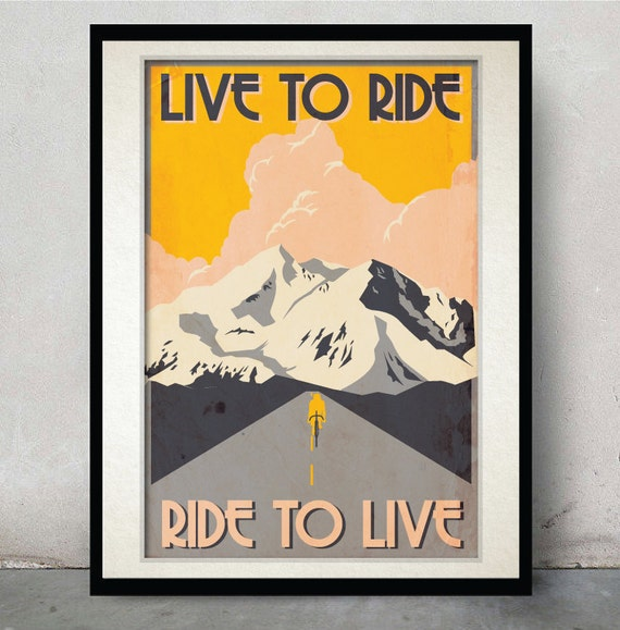Bicycle art posters minimalist poster unique wedding gift for Minimalist gifts for housewarming
