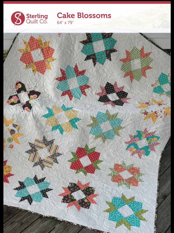 layer cake quilt patterns pdf cake blossoms layer cake friendly quilt pattern 5430