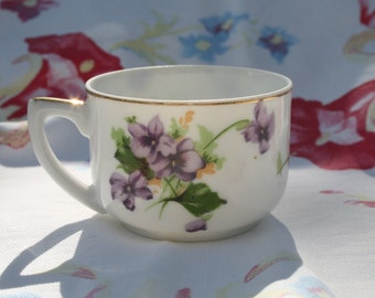 Lady in a cup; Oriental portrait cup; violets; childs teacup; mystery tea cup