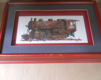 Atchison Topeka and Santa Fe Steam Locomotive Print by J. B. Rivard