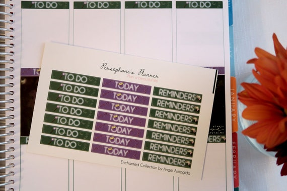 Enchanted: 21 Themed Headers for 1 week in your Erin Condren vertical planner