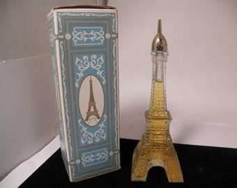 "Eiffel Tower AVON Vintage Collectible Approximately 8"" Tall With Box"
