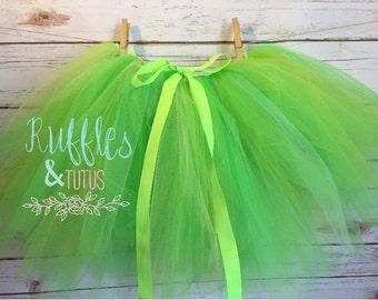 Penelope Tinkerbell Green Kids Tutu Baby Toddler Black Tutu skirt Halloween Costume - Baby or Toddler size 0-12yr Toddler Halloween Costume