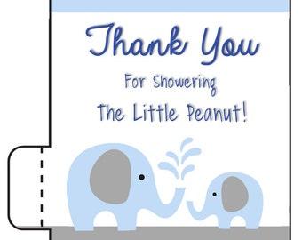 12 Lip Balm Favors - Boy Elephant Baby Shower - Baby Boy Shower - Its a Boy - Elephant Baby Shower Lip Balm - Elephant Birthday Lip Balm