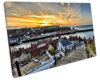 199 STEPS at Whitby canvas WALL ART C2617
