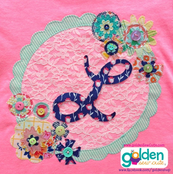 Easter Floral Lace Initial, Personalized Girl Spring Tee