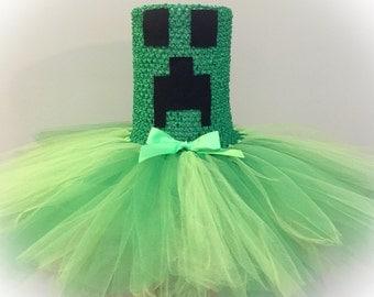 Creeper Girl Tutu ~ Inspired by Minecraft