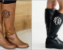 Monogrammed Riding Boots - Makes a great Christmas Gift - Fast Sellers - Get yours today!!
