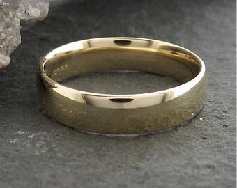 Wedding ring, Court 5mm wide wedding band, full polished finish.