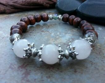 Rose quartz Past Present Future Bracelet