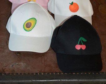 Handpainted Fruit Baseball Cap