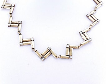 Delantia/Anthropologie/Statement Necklace/Jeweled Necklace/Vintage gold/Jcrew