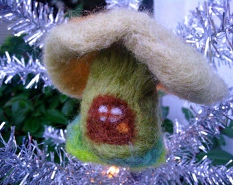 felted toadstool house