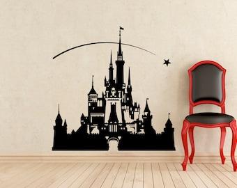 Disneyland Castle Wall Decal Vinyl Sticker Nursery Mural Home Interior Art Decoration (326z)