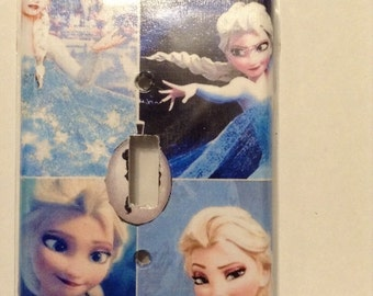 Frozen single switch plate cover