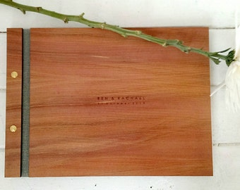 Wedding Guest Book - A4 Size - Rustic Guest Book - Tasmanian Wood Guest book -  Rustic Wedding / Bridal Shower / Engagement Gift