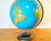 Vintage Globe, Cram Enviro Sphere 12 Inch Diameter Globe on Metal Base, Desk Globe