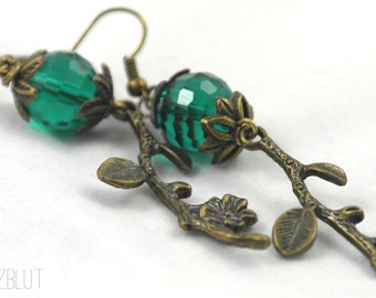 Nice earrings with faceted Czech glass beads