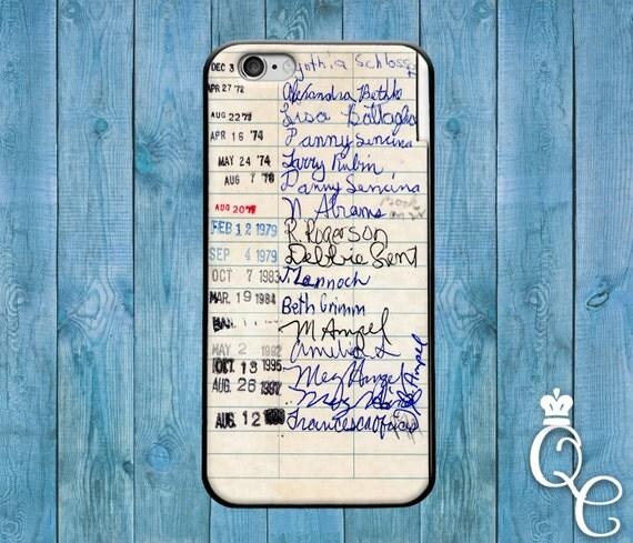 iPhone 4 4s 5 5s 5c SE 6 6s 7 plus iPod Touch 4th 5th 6th Gen Cover Funny Library Card School College Cute Nerd Dork Geek Book Fun Cover