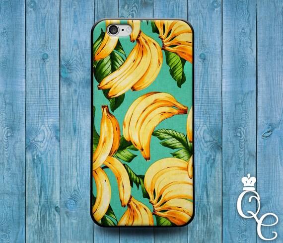 iPhone 4 4s 5 5s 5c SE 6 6s 7 plus iPod Touch 4th 5th 6th Gen Cool Cover Cute Banana Leaf Leaves Fruit Tropical Food Funny Summer Phone Case