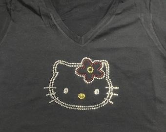 Rhinestone Hello Kitty Shirt
