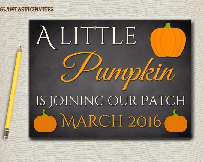 Fall Pregnancy Annoucement, Pumpkin Chalkboard Sign, Pregnancy Annoucement, Fall Pregnancy Annoucement, Photo Prop, Digital Sign, Pumpkin