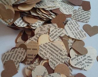 500 Rustic heart confetti, Paper heart confetti, Heart punches, Heart confetti, Rustic wedding confetti, Wedding confetti