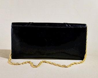 Vintage Blue Leather Bag, Handbag, Clutch, Evening Bag, Shoulderbag, Shoulderpurse