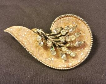 Vintage Paisley Floral Brooch
