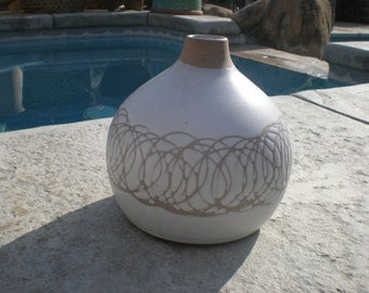 Mid Century Modern Marshall Studios Pottery Weed Pot signed Martz