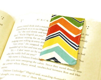 Magnetic Bookmark - Chevron Fabric - Gifts for Readers - Gifts Under 15 - Book Lover - Unique Gift - Gifts for Teachers - Student Gift