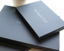 Black presentation box, packed with luxury black tissue paper