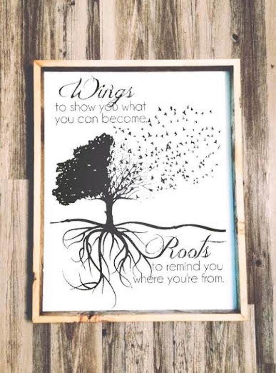 Where Can I Use It: 24x30 Wings To Show You What You Can Become Roots By