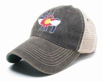 Black Colorado trucker hat